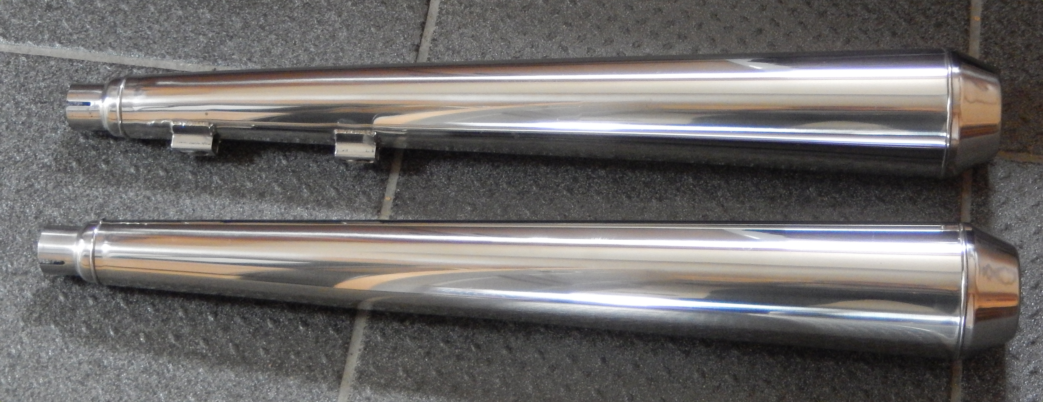 Finely polished stainless steel exhausts